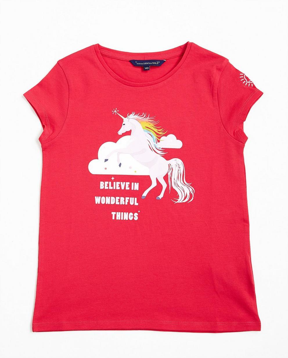 T-shirt avec imprimé - paillettes, rose foncé, I AM - I AM